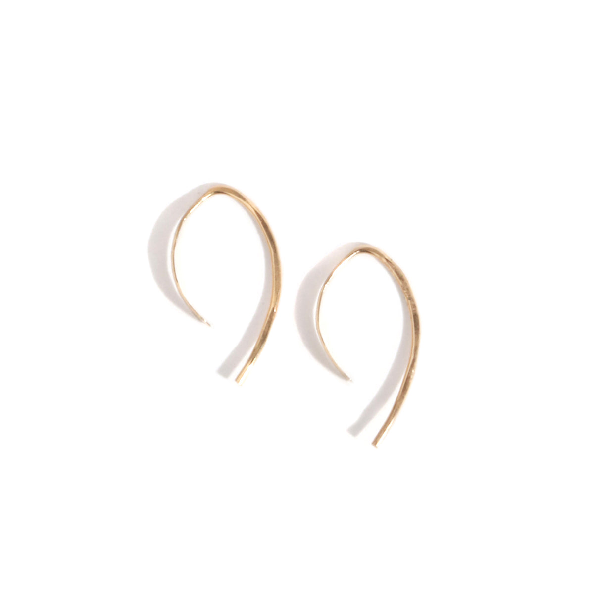 Wishbone hoops - 1/2 inch - Melissa Joy Manning Jewelry