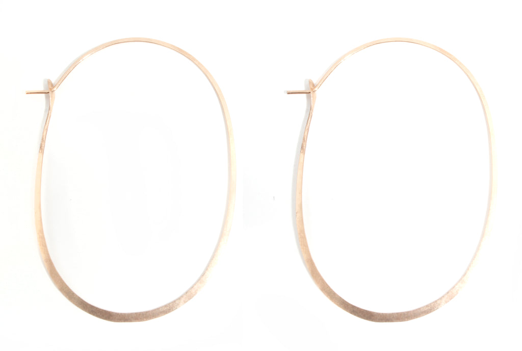 Large Oval hoops - 2.25 inch