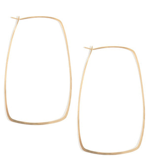 Square Hoops - 3 inch - Melissa Joy Manning Jewelry
