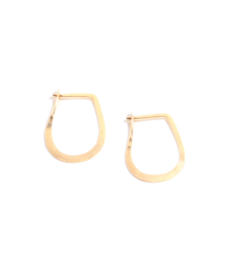 1/2 Inch Teardrop Hoops - Melissa Joy Manning Jewelry