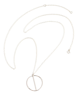 Two Halves Silver Necklace - Melissa Joy Manning Jewelry