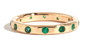 2mm Emerald Wedding Band - Melissa Joy Manning Jewelry