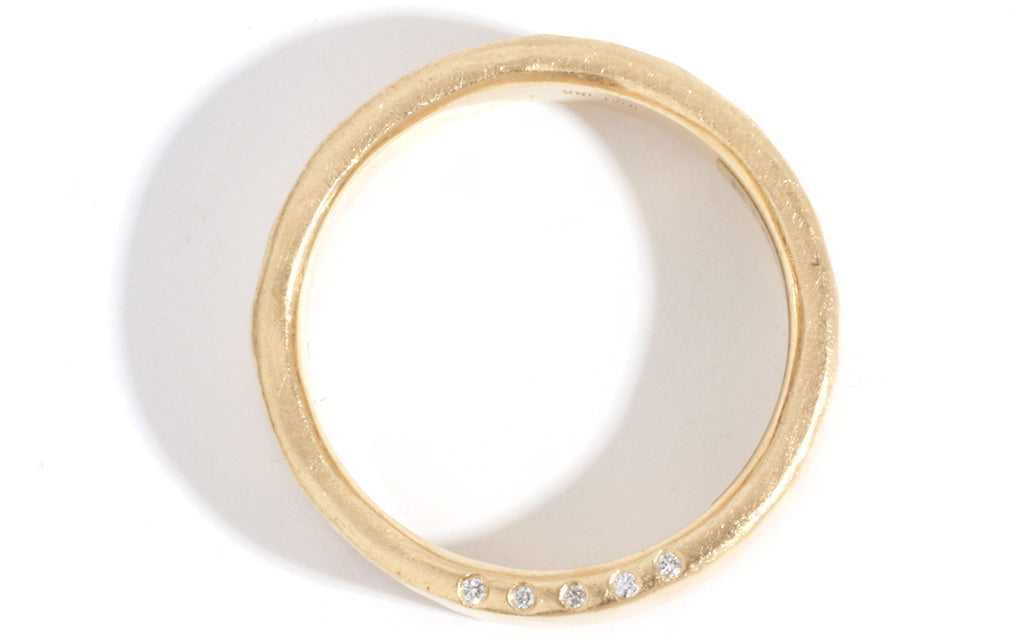 Diamond Edge 6mm Band - Melissa Joy Manning Jewelry