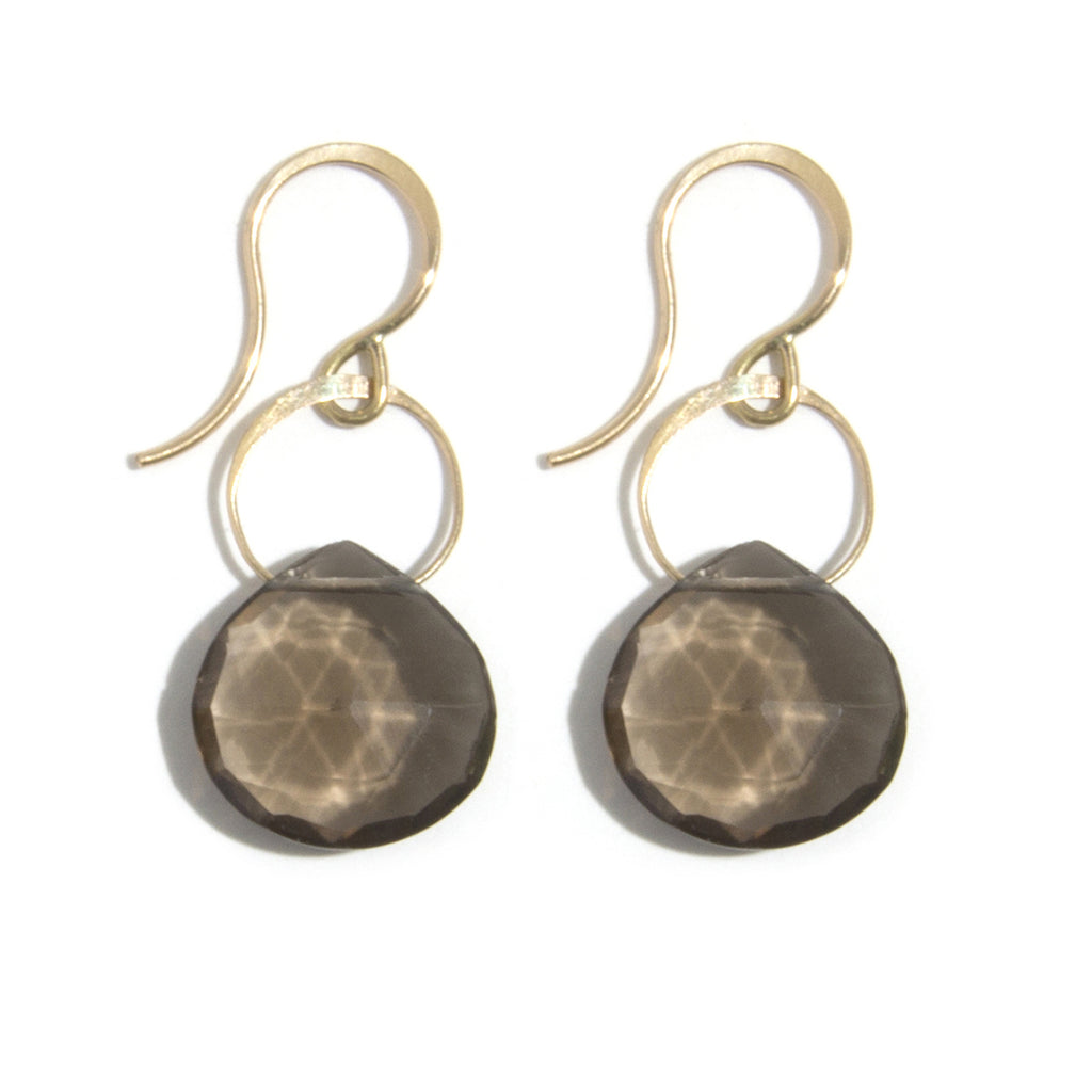 Smoky Quartz Single Drop Earrings - Melissa Joy Manning Jewelry