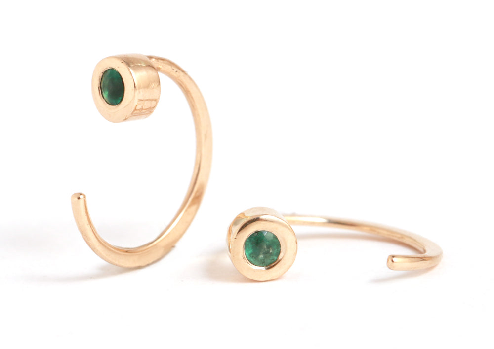 Emerald hug earrings - Melissa Joy Manning Jewelry