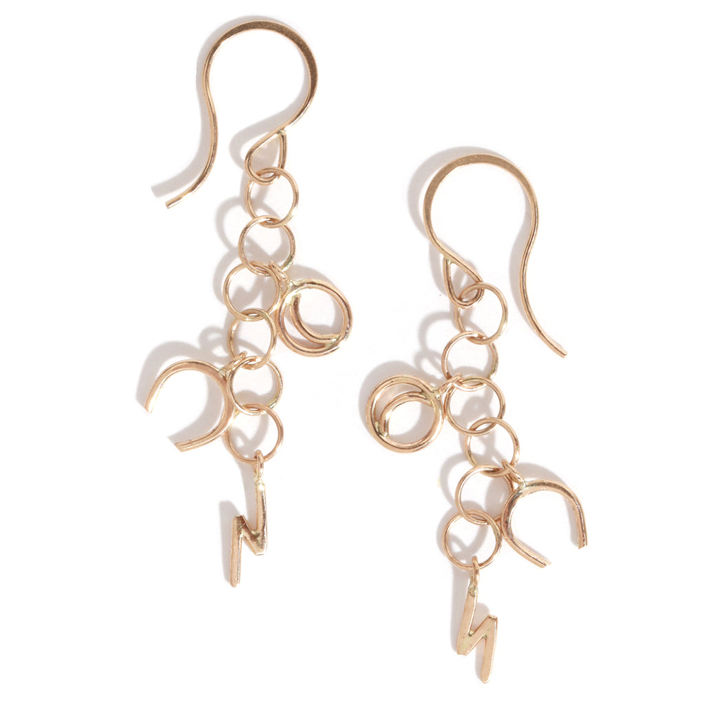 Celestial Charm Drop Earrings - Melissa Joy Manning Jewelry