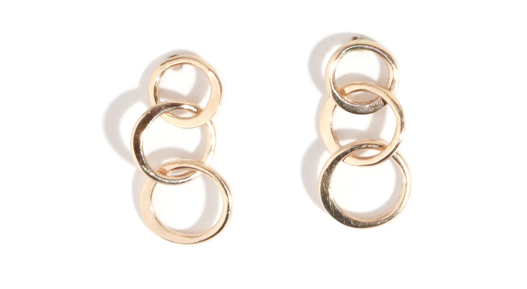 Triple Circle Earrings - Melissa Joy Manning Jewelry