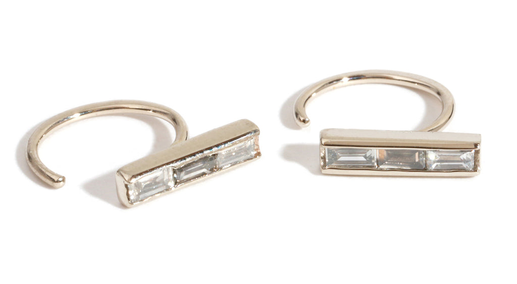 Baguette Diamond Hug Hoops