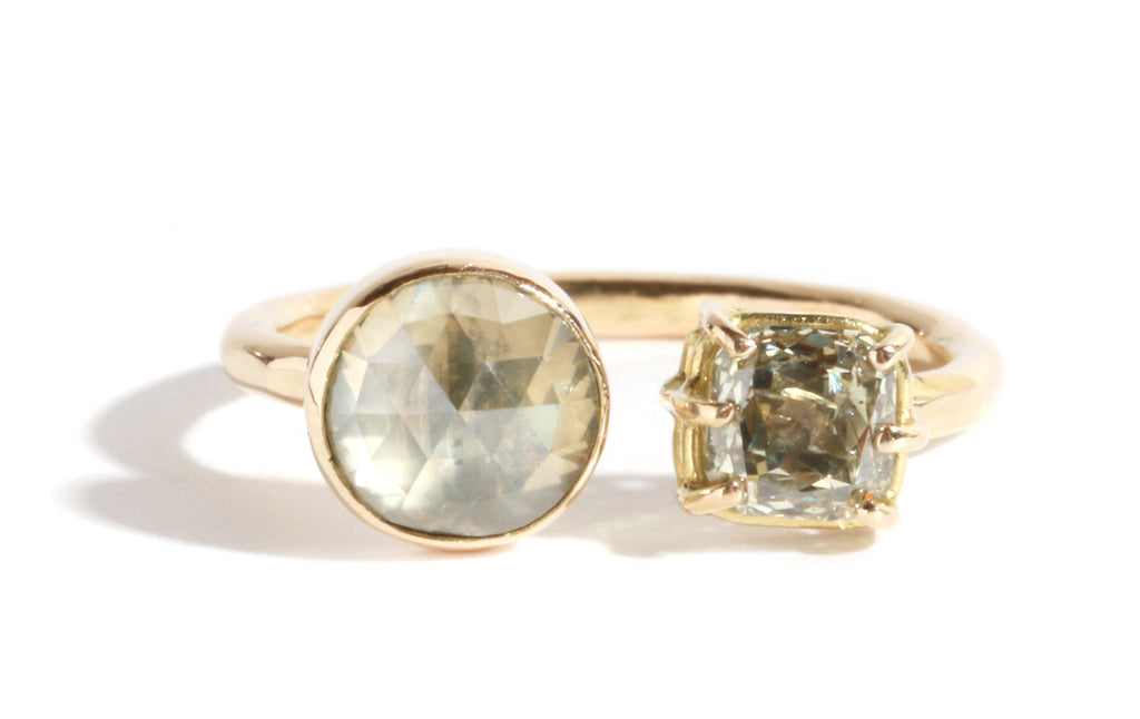 Double Diamond Ring - Melissa Joy Manning Jewelry