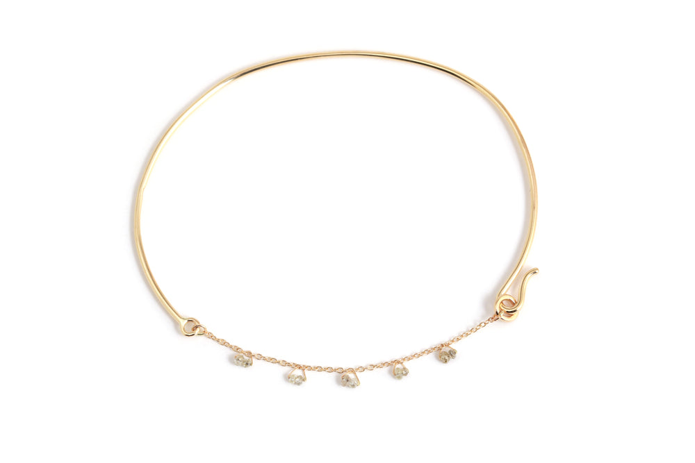 Diamond Beaded Cha Cha Bangle - Melissa Joy Manning Jewelry
