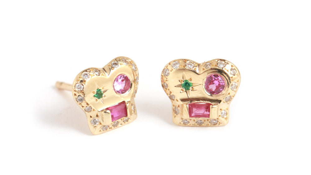 Brian Ruby Stud Earrings - Melissa Joy Manning Jewelry