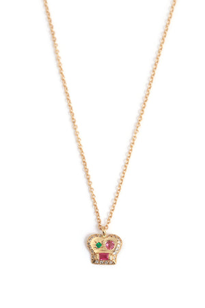 Brian Pendant Necklace with Ruby and Mixed Stones - Melissa Joy Manning Jewelry