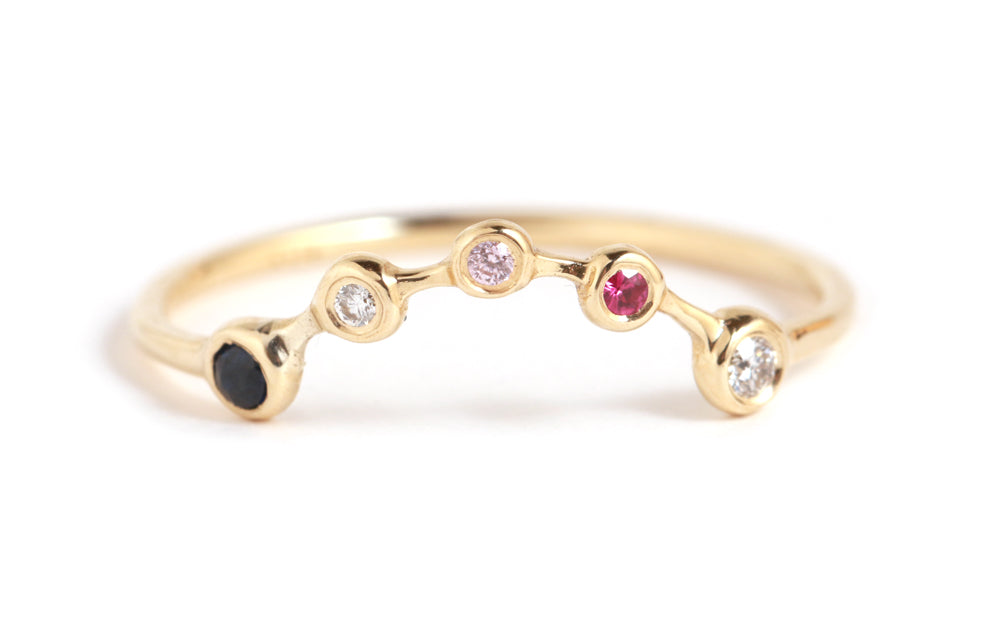 Perfect Stacker Mixed Stones Ring - Melissa Joy Manning Jewelry