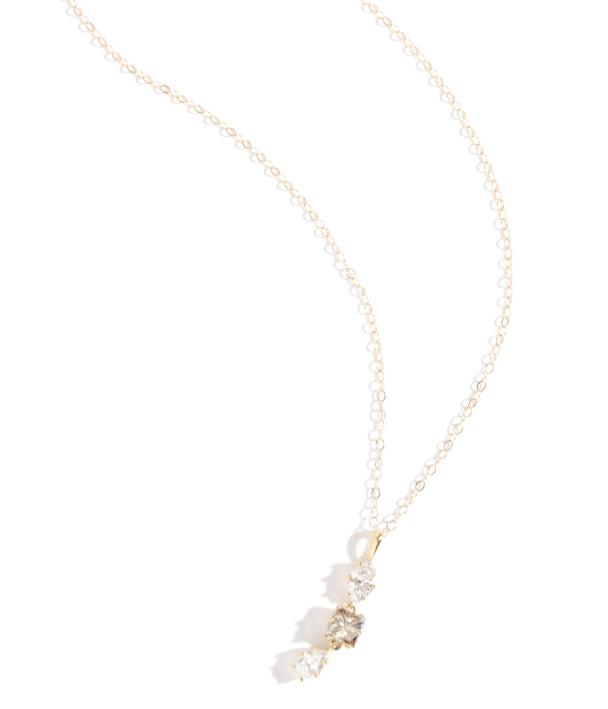 Grey and White Diamond Pendant Necklace - Melissa Joy Manning Jewelry