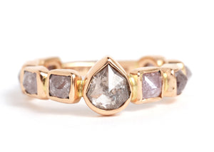 Grey and Purple Diamond Ring - Melissa Joy Manning Jewelry