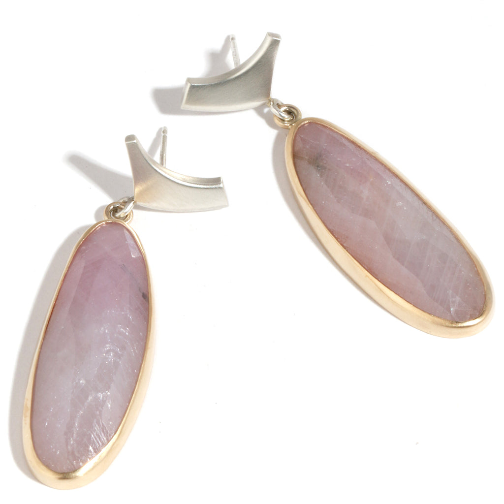 Pink Sapphire Drop Earrings - Melissa Joy Manning Jewelry