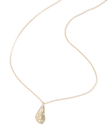 Medium Engraved Petal Pendant Necklace - Melissa Joy Manning Jewelry