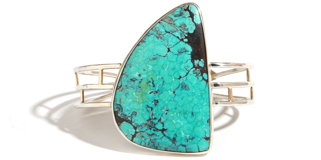 Turquoise Cabochon Cuff