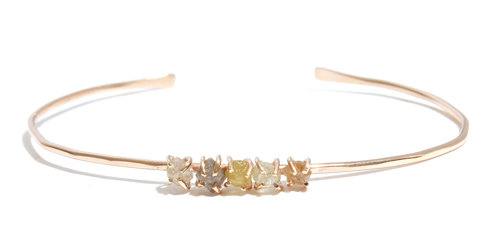 Prong Set Rough Diamond Cuff