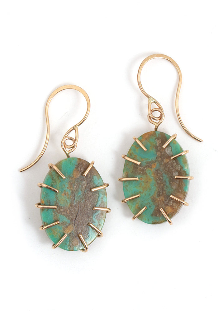 Campo Frio Turquoise Earrings - Melissa Joy Manning Jewelry