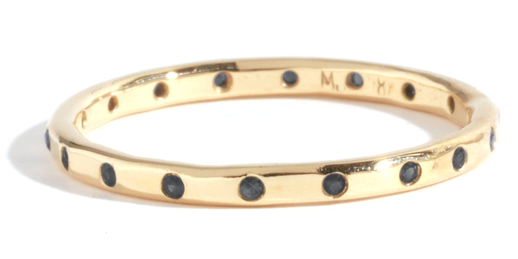18 Black Diamond Band - Melissa Joy Manning Jewelry