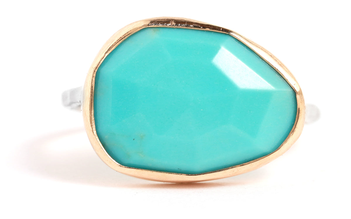 Large Turquoise Ring - Melissa Joy Manning Jewelry
