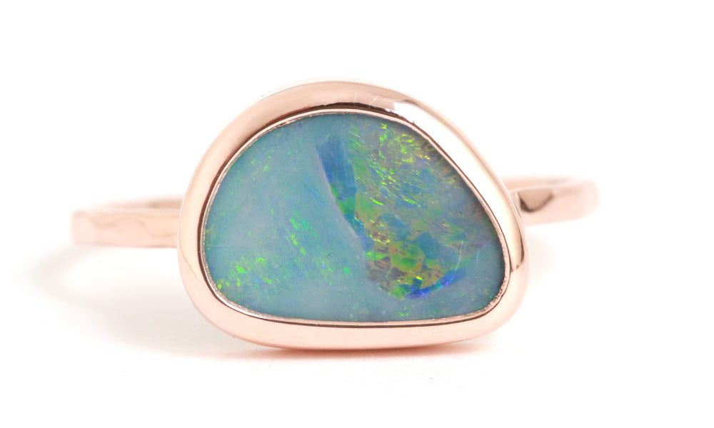 Blue Opal Ring - Melissa Joy Manning Jewelry