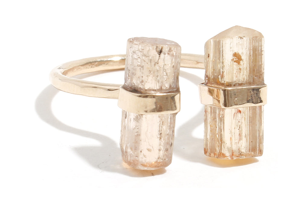 Double Topaz Ring - Melissa Joy Manning Jewelry