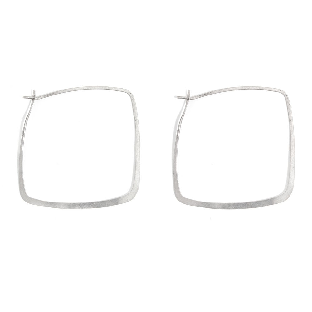 Square Hoops - 1.25 inch - Melissa Joy Manning Jewelry