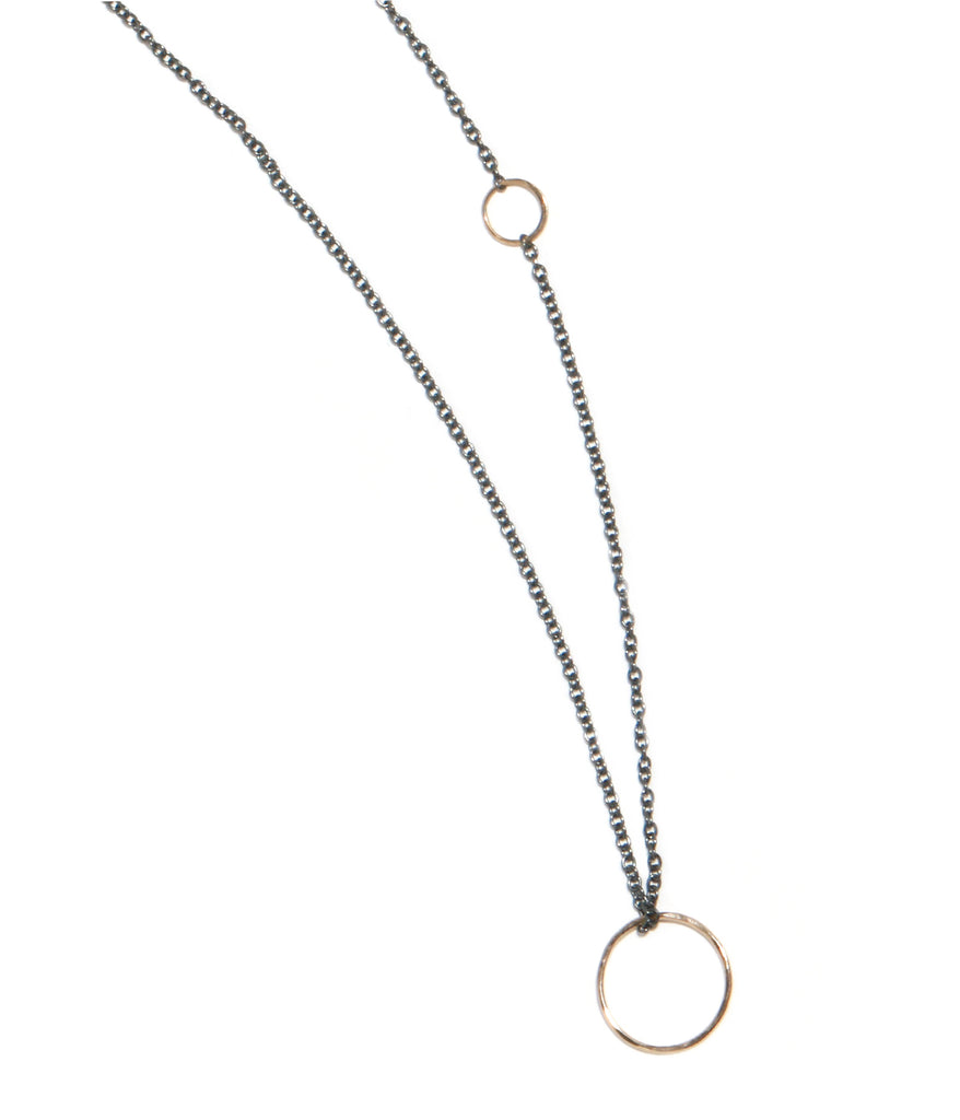 Textured circle pendant necklace - Melissa Joy Manning Jewelry