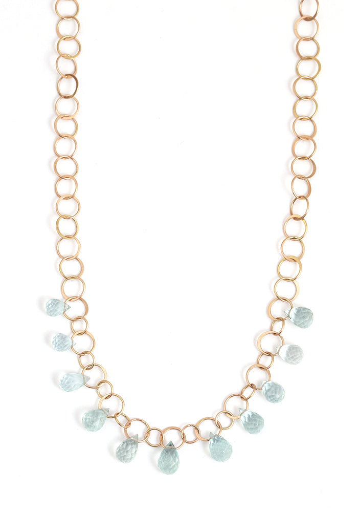Eleven Drop Aquamarine Necklace - Melissa Joy Manning Jewelry