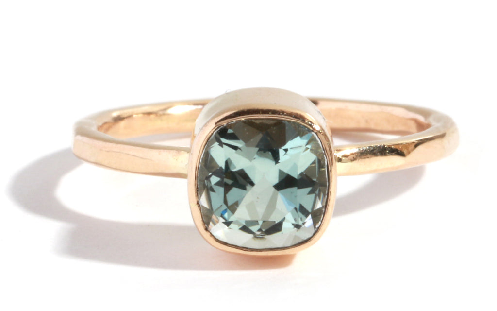 Fancy Cut Aquamarine Ring