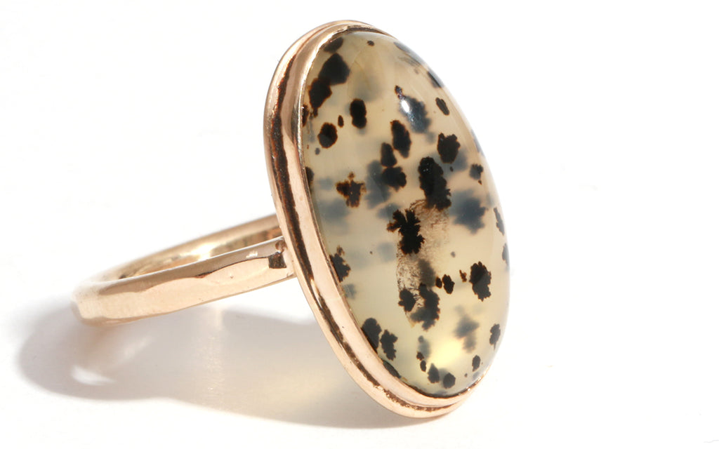 Vintage Speckled Agate Ring - Melissa Joy Manning Jewelry