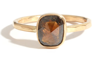 Cognac Brown Diamond Ring - Melissa Joy Manning Jewelry