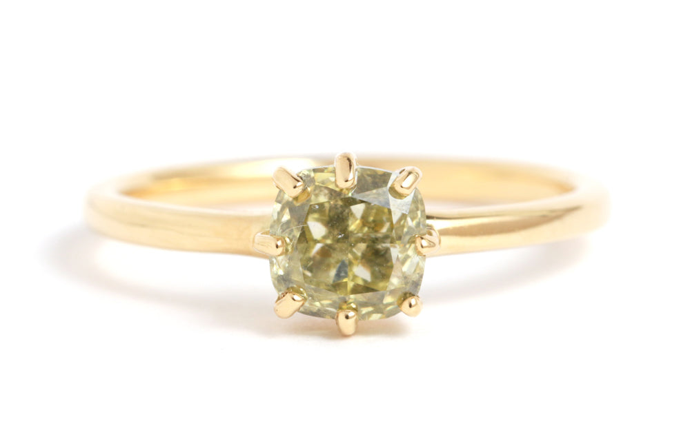 Green Diamond Ring - Melissa Joy Manning Jewelry