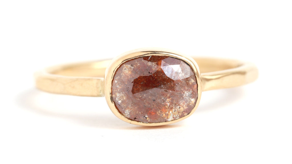 Red Rosecut Diamond Ring