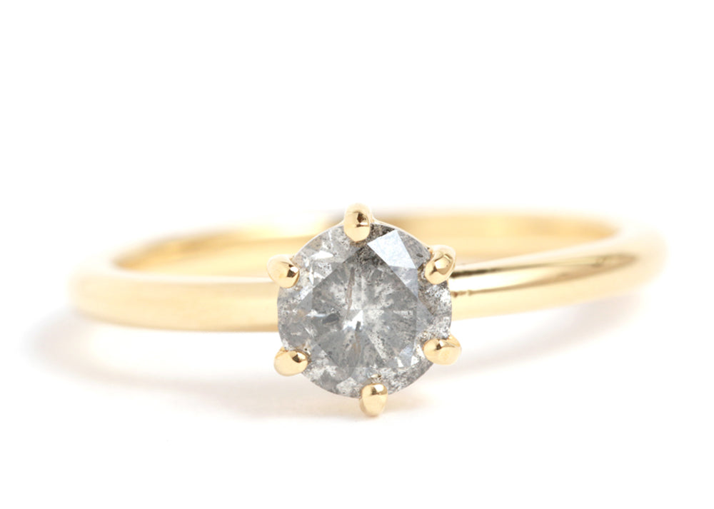 Reclaimed Grey Diamond Ring - Melissa Joy Manning Jewelry