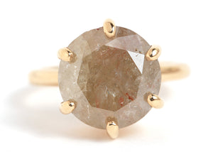 Rustic Diamond Cocktail Ring