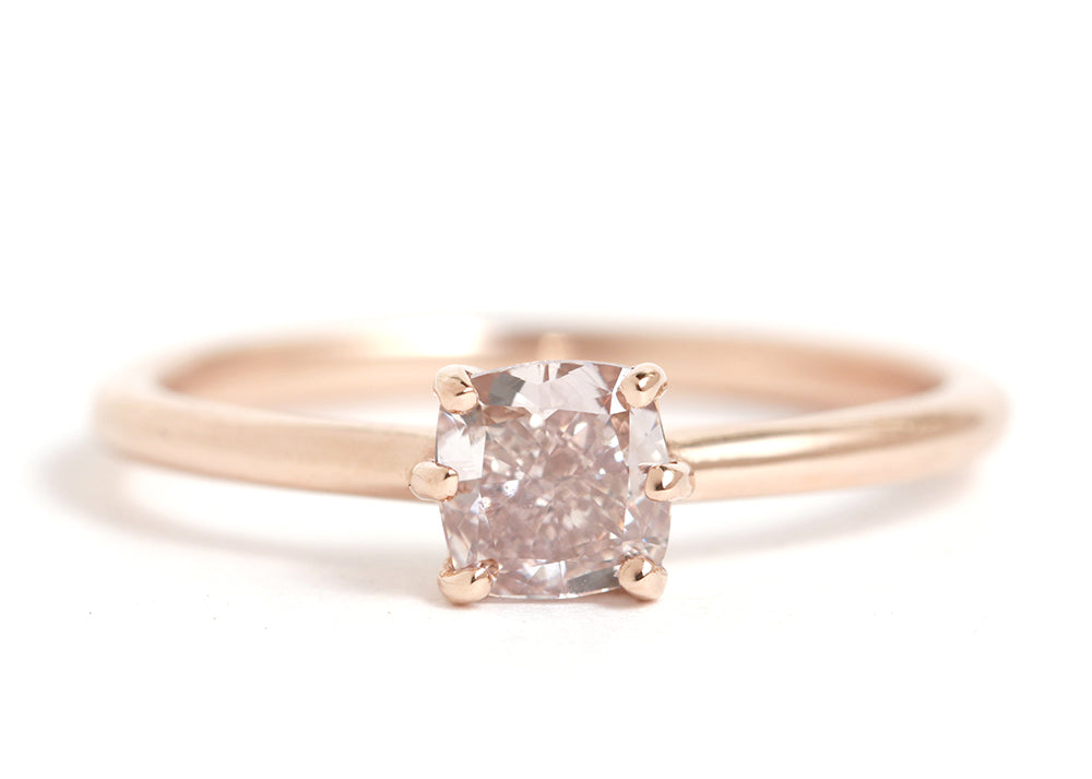 True Pink Diamond Ring