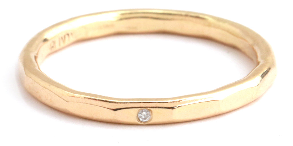 Single Flush Set Diamond 1.5mm Band - Melissa Joy Manning Jewelry