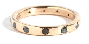 2mm Black Diamond Wedding Band - Melissa Joy Manning Jewelry