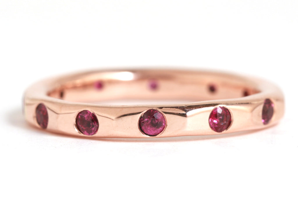 2mm Ruby Band - Melissa Joy Manning Jewelry