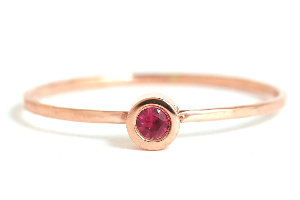Flush set Ruby ring - Melissa Joy Manning Jewelry