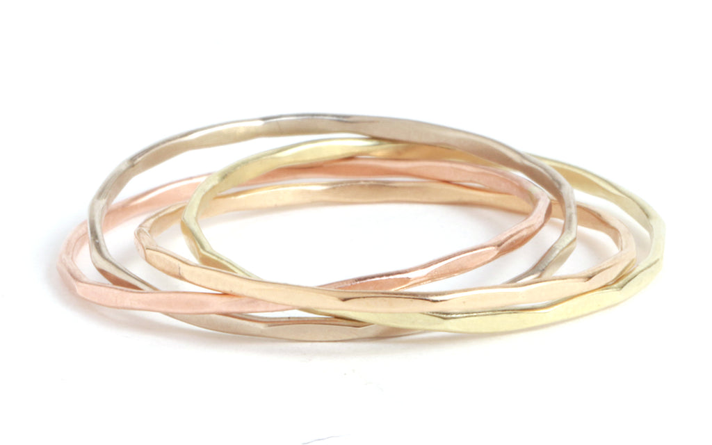 Mixed Gold Interlocking rings - Melissa Joy Manning Jewelry
