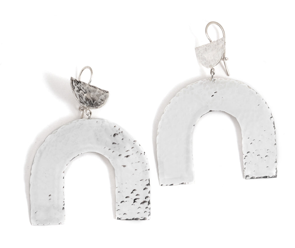 Hammered Arch Drop earrings - Melissa Joy Manning Jewelry