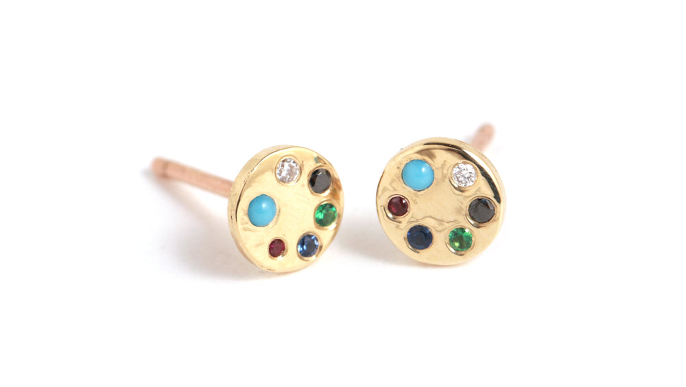Lolli Diamond Stud Earrings - Melissa Joy Manning Jewelry