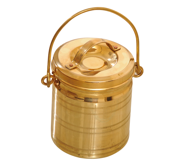 Kumbakonam Brass Lunch Carrier or Thooku Posi (Tin Coated)