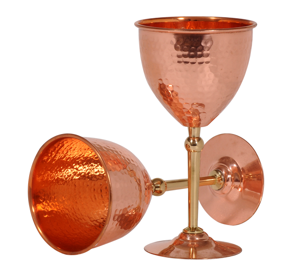 Kumbakonam Copper Wine Cup Set - 2 Pcs