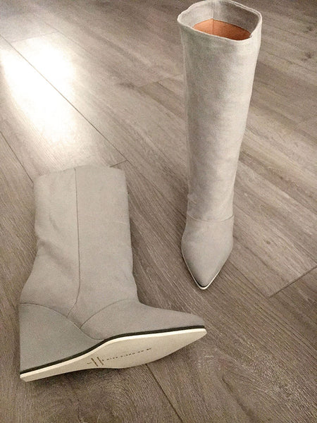 luxury vegan boots by Ivana Basilotta for No One's Skin