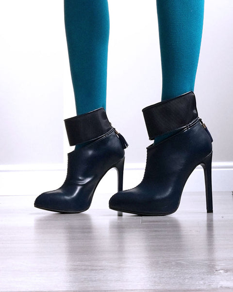 blue ankle boots by Ivana Basilotta , No One's Skin
